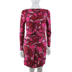 Marc Jacobs Printed Long Sleeve Stretch Dress